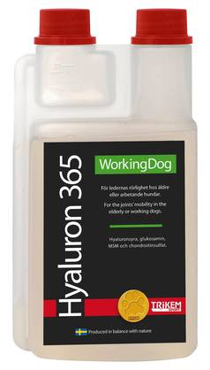 Trikem Working Dog Hyaluron 365 1000ml - Lisäravinteet - 1835100 - 2