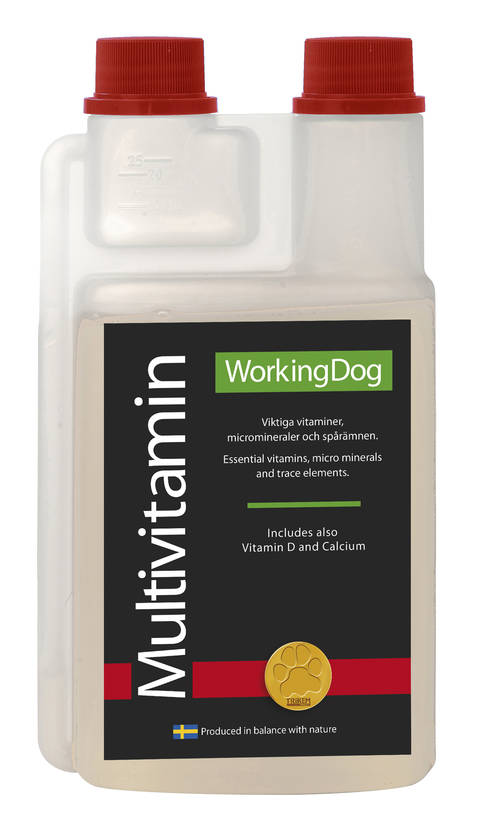 Trikem Working Dog MultiVitamiini 500ml - Täydennysrehut koirille - 1879000 - 1
